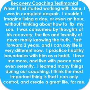 Recovery Coaching Testimonial
